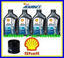 Kit Tagliando Aprilia Dorsoduro 750 11 Filtro Olio Shell Ultra 4 15w50 SMV 2011