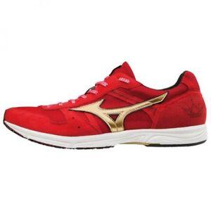 Mizuno Running Marathon shoes WAVE EMPEROR JAPAN 3 J1GA1875 Red × Gold × Black