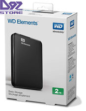 NEW Western Digital Hard Drive Elements 2TB Portable External Hard Drive USB 3.0