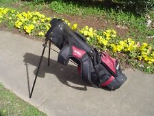 "Kids Wilson Dual Harness Strap Stand Golf Bag for Youth Height 48"" - 56"""