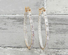 925 Silver & 18K Rose Gold VICTORIA TOWNSEND .25ctw Genuine Diamonds Earrings 4g