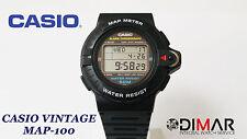 VINTAGE CASIO MAP-100 QW.693 MAPPA METER WR.50 ANNO 1990