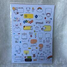 2 sheets Birthday happy day stickers Scrapbooking Cardmaking Diary Art