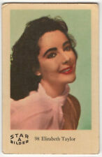 1960s Swedish Film Star Card Bilder A #98 British US Actress Elizabeth Taylor