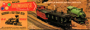 ROUNDHOUSE HO-SCALE #5045 50-FT PULLMAN BUSINESS CAR BLACK UNLETTERED *NOS* 1960