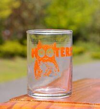 "Hooters Orange Owl Logo Clear Shot Glass 2 3/4"" Tall"