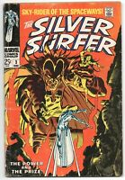 Silver Surfer 3 1st Series Marvel 1968 GD VG 1st Mephisto Stan Lee John Buscema