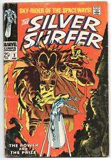 Silver Surfer 3 1st Series Marvel 1968 GD VG 1st Mephisto Stan Lee John Buscema