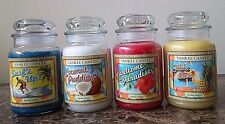 Yankee Candle Tropical Series Limited Edition.  NEW 22 oz. Lot of 4.  Free Ship.