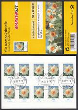 Bund Folienblatt 1 a gest. Narzisse 2008 10xNr.2515  Vollstempel Ganderkesee