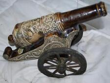 "13"" VINTAGE BANFI SPANISH STYLE CANNON WITH BRASS WHEELS DECANTER"