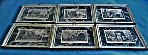 Giovanni Battista Piranesi 6 prints of Italy from 1800s framed w/glass & matts