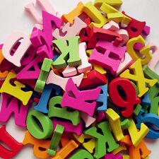 HOT 100pcs Multi Letter Alphabet Handmade Wooden Buttons Sewing Scrapbooking DIY