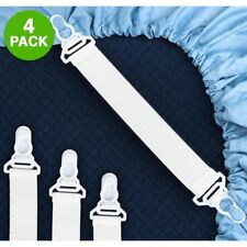 Elastic Sheet Strap/Grippers 4 Pack Fits Any Bed EASY TO USE, BRAND NEW !!