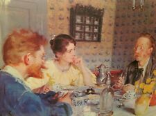 PRINT FRAMED IN GLASS POLITE FOLKS AT DINNER TABLE