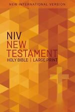 NIV, Outreach New Testament, Large Print, Paperback: By Zondervan