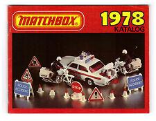 KATALOG/CATALOGUE MATCHBOX 1978, DEUTSCHE EDITION, SEHR GUT/VERY GOOD !