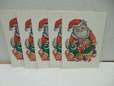 Set of 6 Santa Christmas Cat Postcards by Evelyn Gathings 1987 Kittens