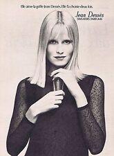 PUBLICITE ADVERTISING 114 1972 JEAN DESSES sweaters parfums