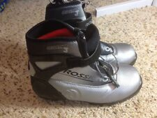 Rossignol Comp-j Black Silver Buckle Ski Boots Teen Size 4.5. Ked