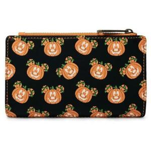 Mick-O-Lantern Flap Wallet Loungefly Disney Halloween Pumpkin