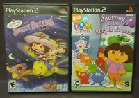 Dora Explorer + Strawberry Shortcake - PS2 Playstation 2 Game Lot Works Complete