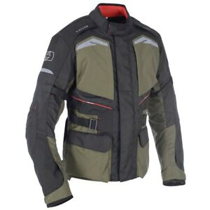 Oxford Quebec 1.0 Mens Textile Waterproof Motorcycle Jacket - Army Green