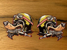 2x WOLF Aufkleber Racing Sticker Motorrad Tank Club 1% V2 Custom Biker TOP #683