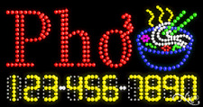 "New ""Pho"" 32x17 w/Your Phone Number Solid/Animated Led Sign 25031"