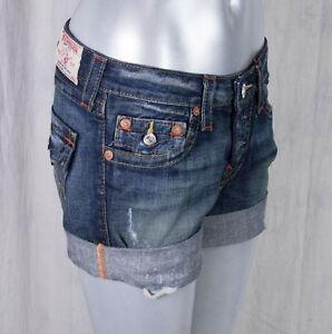 True Religion Jeans Women's JAYDE boyfriend fit OM shorts granite WJAM05OM