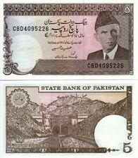 Pakistan 5 Rupees Crisp UNC Banknote