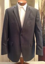 John Varvatos Gray Pinstripe Double Vented Two Button Blazer Size 42 R MINT!