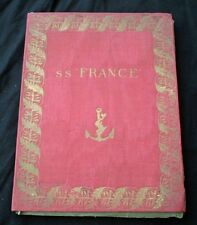 CGT FRENCH LINE SS FRANCE (1912) Book Plate Folio