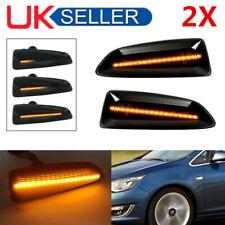 2 Pack Dynamic LED Side Marker Blinker Turn Signal Light for Opel Zafira Tourer