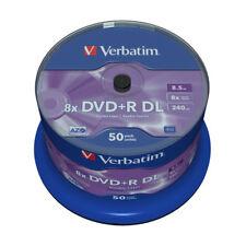 DVD+R Verbatim  8x Doble Capa Tarrina 50 uds