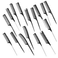 Fine-tooth Metal Pin Hairdressing Hair Style Rat Tail Comb Black Tool AU
