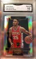 Ben Simmons Rookie Card Prizm Silver Select 2016 Gem Mint 10 ROY RC 76ers