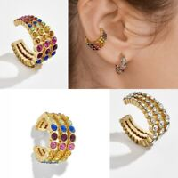 Fashion Ear Clip Bohemia Ear Cuff Stud Crystal Rhinestone Ear Earrings Jewelry