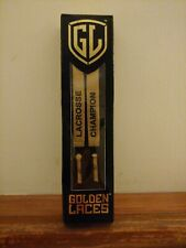 "Golden Laces ""Lacrosse Champion"" 45"" for Sneakers! New!"