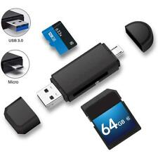 Micro USB+USB OTG Card Reader USB3.0 Memory Card Adapter for PC Android Tablet