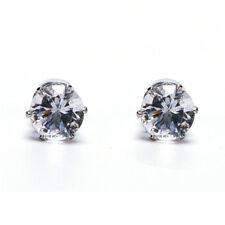 1 Pair Non Piercing Rhinestone Clip On Round Magnetic Stud Earrings Men Women