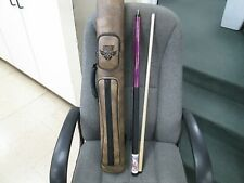 PLAYERS 19 0Z POOL CUE WITH OUTLAW 2X2 CASE PINK/PURPLE/BLACK