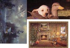 LOT DUCKS UNLIMITED SANTA GEESE PUPPIES CHRISTMAS HOLIDAYS SALESMAN SAMPLE CARDS