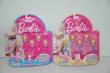 Barbie Squinkies Party Pack Series 1 and Series 4 Squinkie Rings New