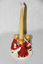 Goebel Engelreigen engel rot mit Kerze Kerzenständer 12cm NEU OVP Göbel Figur