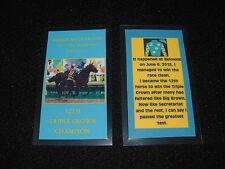 AMERICAN PHAROAH 2015 TRIPLE CROWN HORSE RACING KEEPSAKE CARD BELMONT STAKES