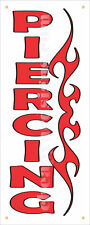 "Piercing Store Tribal Banner Retail 18""x48"" Tattoo Shop Outdoor Vinyl Sign"