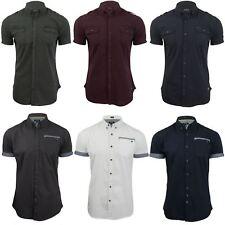 Mens Poplin Shirt by Firetrap 'Lanover' Short Sleeved - Slim Fit