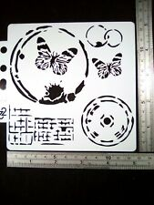 Butterfly Circle Abstract Stencil Embossing Scrapbook Cardmaking Journal Home