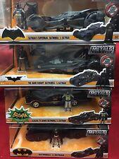 4x1:24 Batmobiles,Dark Knight,TV Series, Batman V Superman & Batmobile figurines